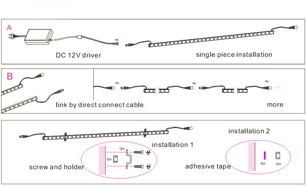 installation diagram for rigid light bars installation led aluminum light bar waterproof led rigid strips on installation diagram for rigid light bars