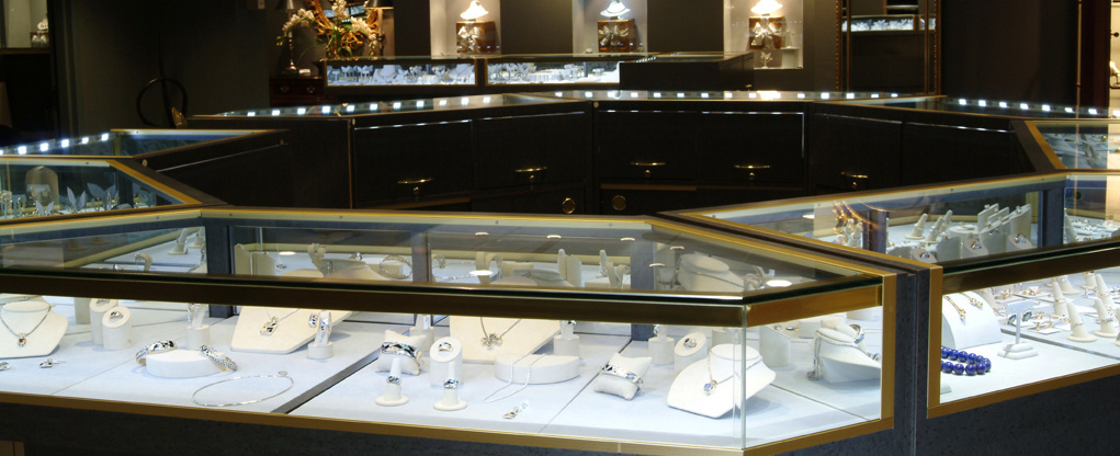 Jewelry Display Lighting Led Showcase Retail