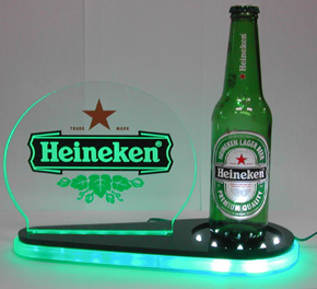 Led accents a beer shelf