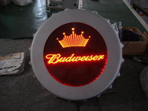 amber Led light for sign in a bar