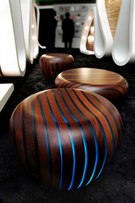 a wooden seat with Led integrated ... & Furniture Lighting | LED Flexible Strips | LED Furniture Lights